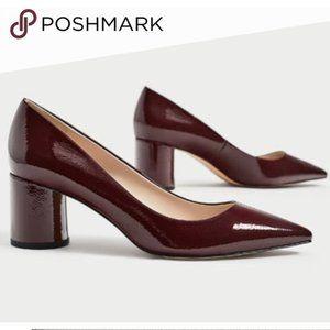 Zara Burgundy Pointed Heels.  SZ 7.5